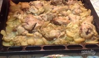 Курица с картошкой, чесноком и майонезом - фото шаг 6
