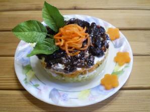 Слоеный грибной салат - фото шаг 9