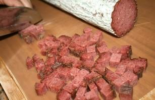 Паста с колбасой - фото шаг 1