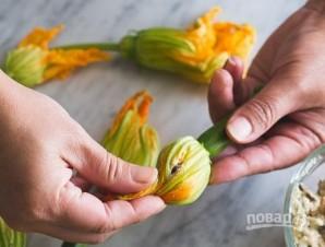 Овощные цветы с фаршем - фото шаг 4
