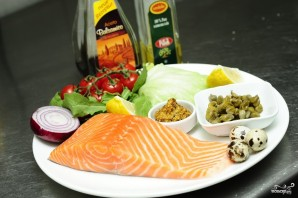 Тартар из лосося - фото шаг 1