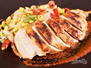 Курица на гриле с овощами и соусом барбекю - фото шаг 13