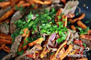 Стейк со сладким картофелем и соусом из петрушки - фото шаг 5