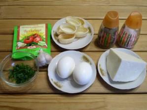 Закуска с сыром и чесноком - фото шаг 1