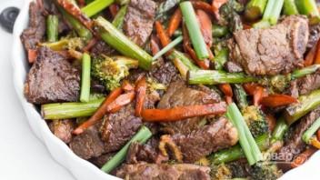 Жареное мясо с овощами - фото шаг 7