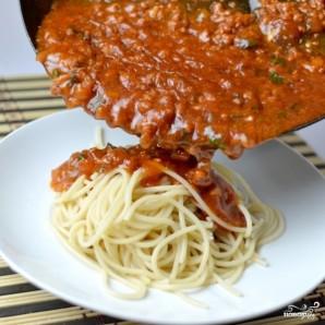 Соус с фаршем для спагетти - фото шаг 6