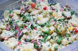 Картофельный салат с горошком - фото шаг 7