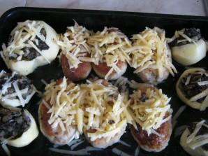 Зразы с грибами в духовке - фото шаг 3