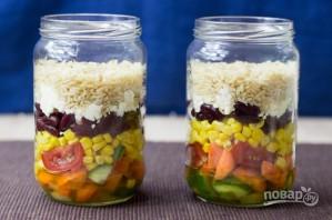 """Овощной салат """"Витамины в баночке"""" - фото шаг 5"""