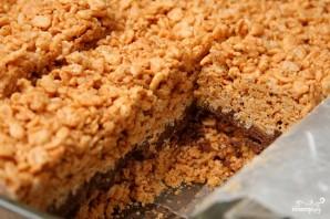 Пирожные с шоколадом, рисовыми хлопьями и арахисовым маслом - фото шаг 4