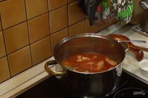 Мясо, тушенное с черносливом в кисло-сладком соусе - фото шаг 3