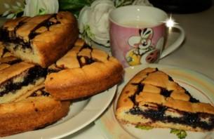 Пирог с черничным джемом - фото шаг 5