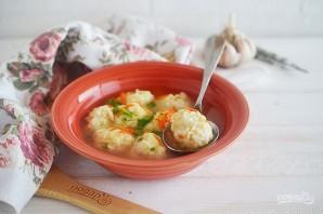 Куриный суп с рисово-сырными клецками - фото шаг 6