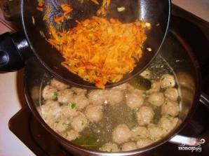 Суп с фрикадельками и томатной пастой - фото шаг 6