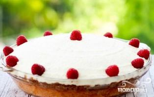 Пирог с малиной и ванильным кремом - фото шаг 8