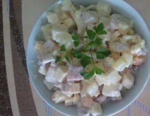 Салат из куриного рулета - фото шаг 3