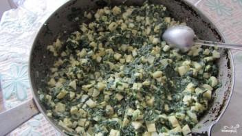 Слоеный пирог со шпинатом - фото шаг 4