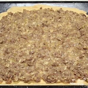 Пирог с сыром и мясом - фото шаг 10