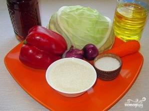 Маринованная капуста с красным перцем - фото шаг 1