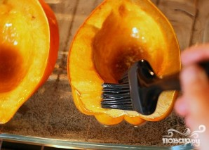 Яблочно-луковая запеканка в сквоше - фото шаг 2