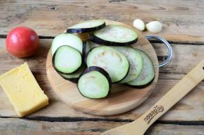 Торт из баклажанов с помидорами и сыром - фото шаг 2