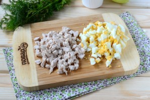 Салат из кукурузы и куриной грудки - фото шаг 2