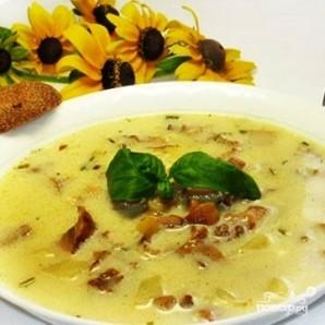 Летний суп из лисичек с плавленым сыром - фото шаг 8