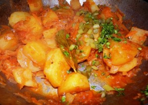Вегетарианский бигус - фото шаг 8