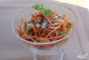 Салат с маринованным луком - фото шаг 3