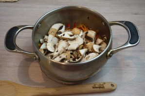 Суп на грибном бульоне - фото шаг 5