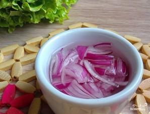Салат со свининой и шампиньонами - фото шаг 3