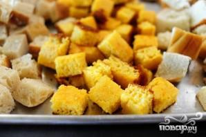 Кукурузный хлеб с колбасой и яблоками - фото шаг 1