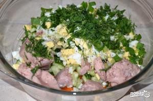 Салат с печенью трески - фото шаг 4