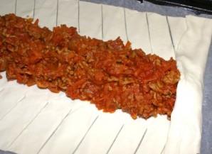 Пирог слоеный с мясом - фото шаг 4