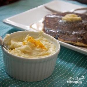 Кукурузные оладьи с черникой и апельсиновым маслом - фото шаг 7