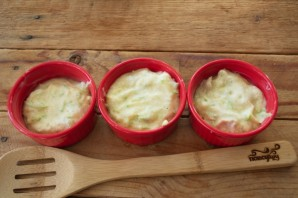 Суфле из кабачков с грибным соусом - фото шаг 5
