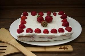 Клубнично-творожный торт без выпечки - фото шаг 10