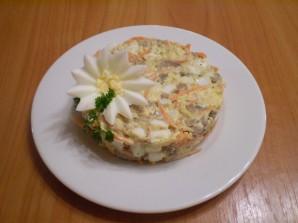 Салат с корейской морковью и печенью - фото шаг 6