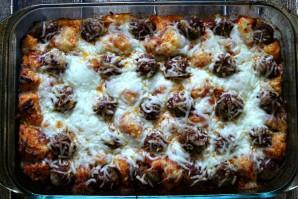 Тефтели с картошкой в духовке - фото шаг 4
