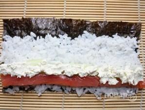 Роллы с творожным сыром - фото шаг 7