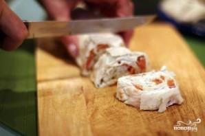 Рулет с семгой и сыром - фото шаг 3