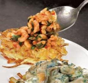 """Креветки и мидии на картофеле """"пай"""" - фото шаг 6"""