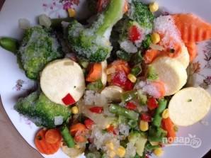 Лосось в духовке с овощами - фото шаг 3