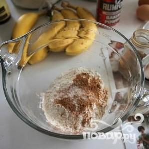 Банановые пончики с арахисовой глазурью - фото шаг 1