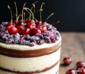 Открытый торт с ягодами - фото шаг 12
