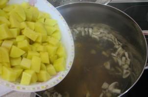 Суп с грибами - фото шаг 2