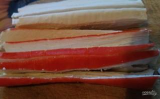 Роллы с форелью и сливочно-творожным сыром - фото шаг 4
