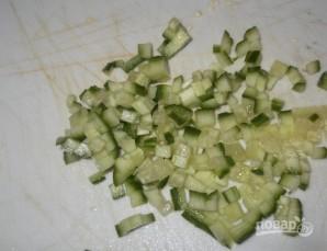 Салат из печени трески с рисом - фото шаг 4