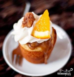 Апельсиновые капкейки с грецкими орехами и сливочной глазурью - фото шаг 5