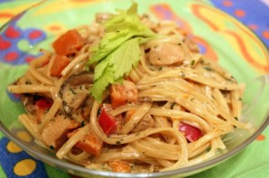 Паста с овощами в сливочном соусе - фото шаг 3